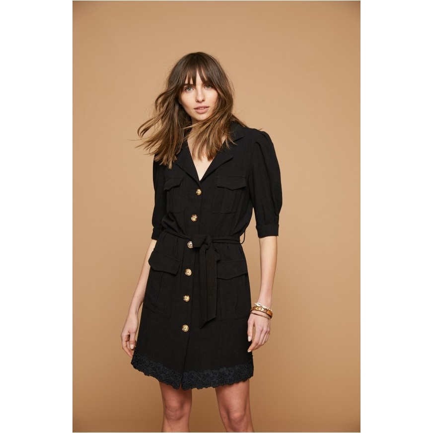 Vestido Niara. Camisero negro